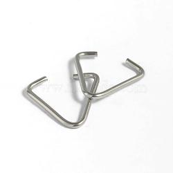 304 inoxydable accessoires de sac d'acier, couleur inoxydable, 16x15x1.2mm(X-STAS-D431-45)