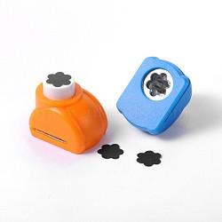 Mini-ensembles en plastique artisanat fleur de punch pour Scrapbooking, shapers de papier, couleur aléatoire simple ou couleur mélangée aléatoire, 33x26x31mm(AJEW-F003-26B)