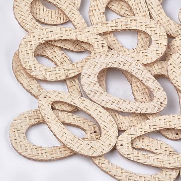 48mm Linen Drop Rattan Pendants