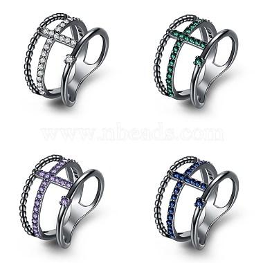 Trendy Brass Cubic Zirconia Finger Rings(RJEW-BB27262-A-9)-2