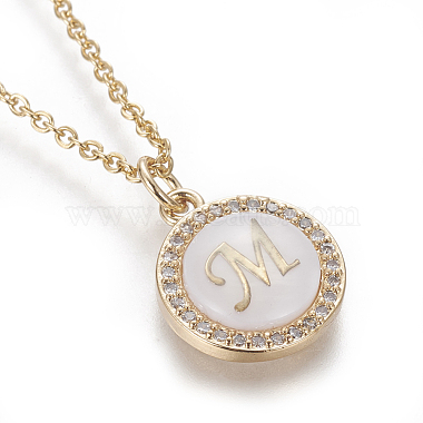 Brass Initial Pendant Necklaces(NJEW-I230-24G-M)-3