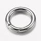 304 Stainless Steel Spring Gate Rings(STAS-O114-030P)-2