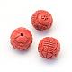 Round/Flower Bud Cinnabar Beads(CARL-Q003-41B)-3