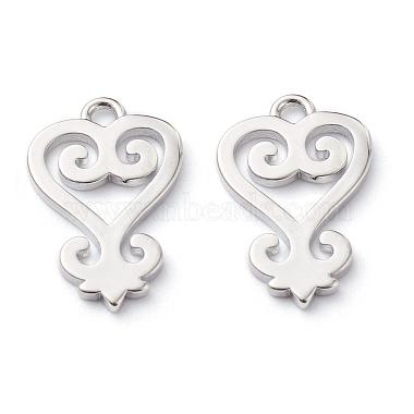Platinum Adinkra Symbol Brass Pendants