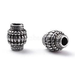 Antique Acrylic Beads, Barrel, Antique Silver Color, 16mm long, 13mm wide, hole: 4mm, 480pcs/500g(PLS056Y)