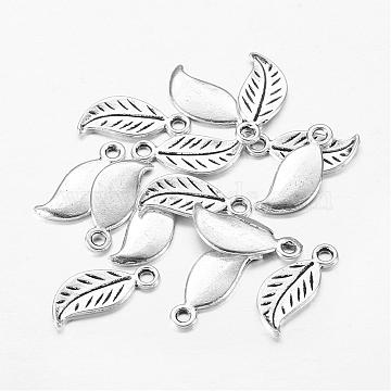 Antique Silver Leaf Alloy Charms