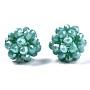 Medium Turquoise Round Glass Beads(X-GLAA-T024-01C-A04)