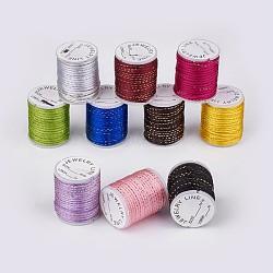 Fil de polyester, couleur mixte, 2mm, environ 4 m / bibone (OCOR-G003-B)
