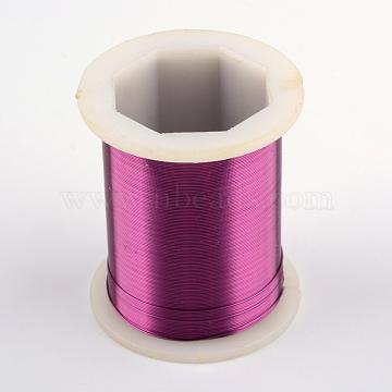 Copper Jewelry Wire, Purple, 0.3mm, about 164.04 Feet(50m)/roll(CWIR-R004-0.3mm-08)