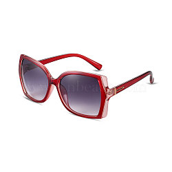 New Fashion Women Cat Eye Sunglasses, Red Plastic Frames and PC Space Lens, Inky, 4.9x14cm(SG-BB14422-3)
