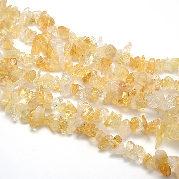 Natural Citrine Beads Strands, Chips, 8~12x8~12mm, Hole: 1mm, about 31.5 inches(X-G-O049-C-42)