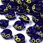 Blue Abacus Lampwork Beads(LAMP-S194-005-B02)
