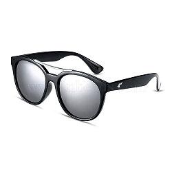 мода стиль звезды лета женщин солнцезащитные очки, черные пластиковые рамы и ПК пространства линзы, белый ртуть, 4.9x14.5 cm(SG-BB14532-4)