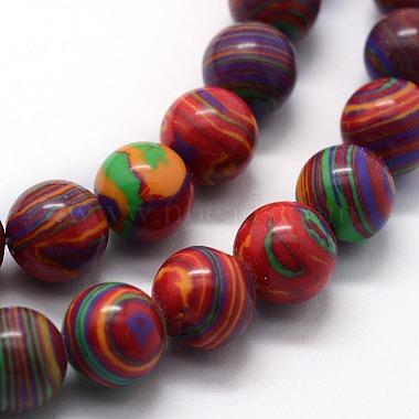 Synthetic Malachite Beads Strands(X-G-I199-32-10mm-C)-3