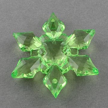 29mm LimeGreen Snowflake Acrylic Connectors/Links