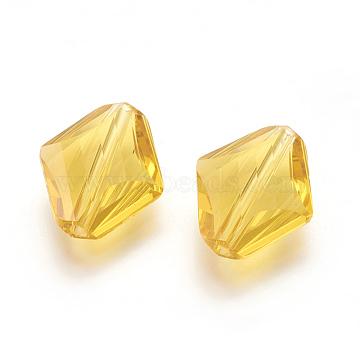 14mm Gold Rhombus Glass Beads