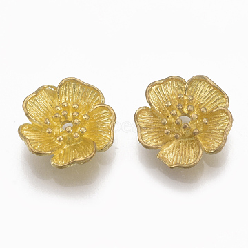Unplated Flower Brass Beads