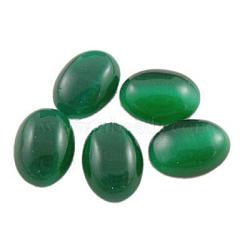 Стеклянный Кошка глаз кабошоны, темно-зеленые, овальные / рис, шириной около 30 мм, 40 мм длиной, толщиной 5.5 мм (CE064-30X40-17)