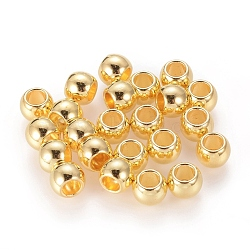 Tibetan Style Spacer Beads, Lead Free and Cadmium Free, Drum, Golden, about 6mm long, 7mm thick, hole: 3.5mm