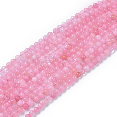 Natural Rose Quartz Beads Strands(X-G-F591-04A-8mm)-2
