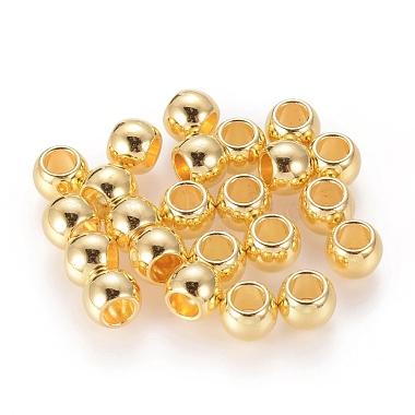 Golden Drum Alloy Spacer Beads