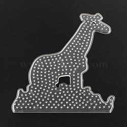 Girafe abc panneaux perforés en plastique utilisés pour les perles à repasser 5x5mm diy, clair, 160x128x5mm(X-DIY-Q009-37)