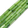 Natural Freshwater Shell Beads Strand, Dyed, Column, Lime Green, 9x3mm, Hole: 0.8mm, about 38pcs/strand, 16.93 inches(43cm)