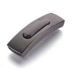304 fermoirs à baïonnette en acier inoxydable, rectangle, bronze, 43.9x13x6 mm, trou: 11x4 mm(STAS-P158-01A-B)