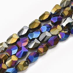 11mm Разноцветный Овальный Стекло Бусины(EGLA-S176-01-A01)