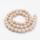 Natural Fossil Beads Strands(X-G-Q462-123-6mm)-2