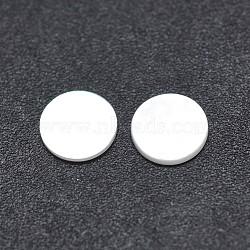 Cabochons en coquille, plat rond, blanc, 5x0.3mm(SSHEL-E567-12A)