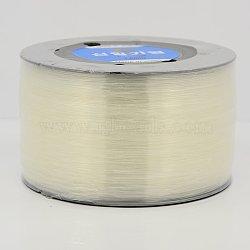 Fil de cristal élastique coréen, clair, clair, 0.6mm, 1000m/rouleau(EW-G003-0.6mm)