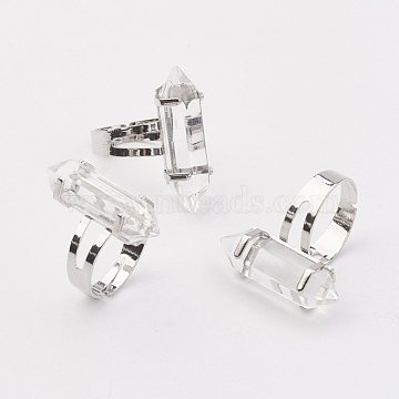 Clear Glass Finger Rings
