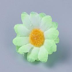 tournesol en tissu de soie, tête de fleur artificielle, pour la décoration de fête de mariage, lightgreen, 40x16~17 mm; diamètre intérieur: 2 mm(DIY-WH0134-A11)