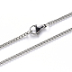 304 Stainless Steel Curb Chain Necklace Making(NJEW-S420-001A-P)-1