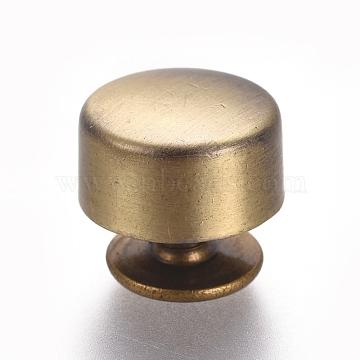 Brass Jewelry Box Drawer Handles, Cabinet Knobs, Brushed Antique Bronze, 10.5x9mm(KK-TAC0002-65AB)