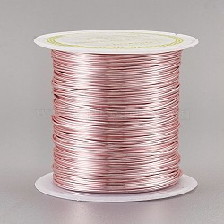 Copper Wire Copper Beading Wire, Long-Lasting Plated, Rose Gold, 22 Gauge, 0.6mm; 18m/roll(CWIR-F001-RG-0.6mm)