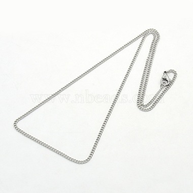 Women's 304 Stainless Steel Twisted Chain Necklaces(X-STAS-O037-58P)-2