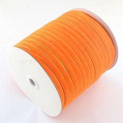 """3/8"""" Ruban de velours de simple face, orange, 3/8"""" (9.5 mm); environ 200yards / rouleau (182.88m / rouleau)(OCOR-R019-9.5mm-035)"""
