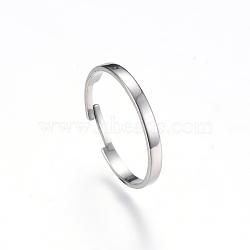 Adjustable 304 Stainless Steel Finger Ring Settings, Stainless Steel Color, 17mm(X-MAK-R012-10)