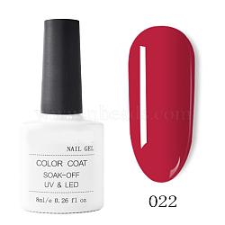 gel de couleur de peinture à ongles, gel uv de couleur pure, pour la conception d'art d'ongle, cramoisi, 7.2x3.2 cm; 8 ml / bouteille(MRMJ-T009-029-22)
