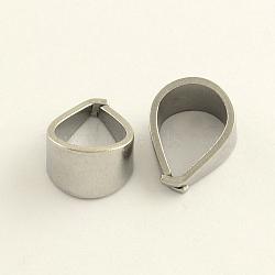 Pression sur les bails en 304 acier inoxydable, couleur inoxydable, 12x10x7 mm; broches: 1 mm(X-STAS-R065-34)