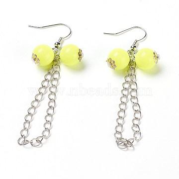 Yellow Acrylic Earrings