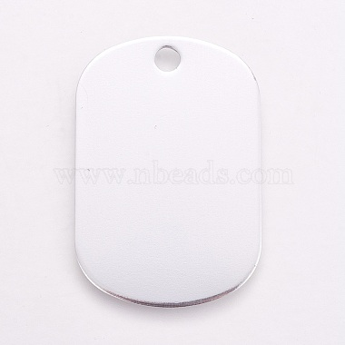 Platinum White Rectangle Aluminum Pendants