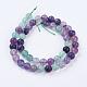 Natural Fluorite Beads Strands(G-P318-05-8mm)-2