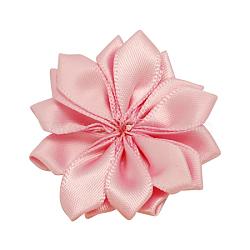 Faits à la main de fleurs pearlpink tissé accessoires de costumes, 37x37x7mm(X-WOVE-QS17-9)