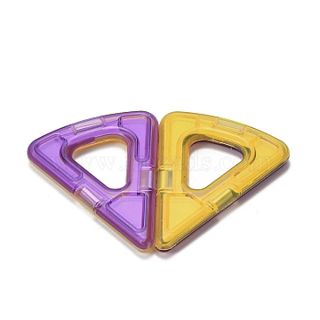 DIY Plastic Magnetic Building Blocks, 3D Building Blocks Construction Playboards, for Kids Building Toys Gift Accessories, Fan, Random Single Color or Random Mixed Color, 59.5x44x6mm(DIY-L046-14)