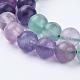 Natural Fluorite Beads Strands(G-P318-05-8mm)-3