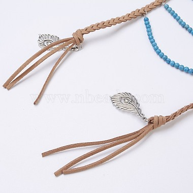 Natural & Synthetic Mixed Stone Tiered Necklaces(NJEW-JN02124)-4