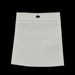 rectangle sacs à fermeture zip, sacs refermables, blanc, 15x10 cm(OPP-R003-10x15)